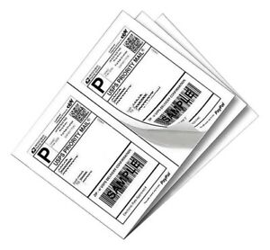 Sjpack 1000 Self Adhesive Half Sheet Shipping Labels 8 5 X 5 5