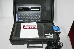 Brother P touch Electronic Label Maker Printer Pt 20 25 With Hard Case
