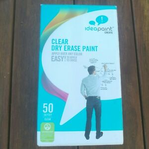 Idea Paint Create Clear Color Dry Erase Paint Kit 50 Sq Feet New Open Box