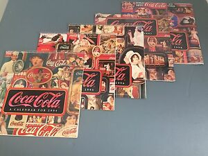 Coca Cola Calendars, Lot of (5), Years 1994-1998, New!
