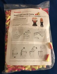 Lot 1000 Pairs 2000 Disposable Howard Leight Laser Lite Ear Plugs Cordless 3m