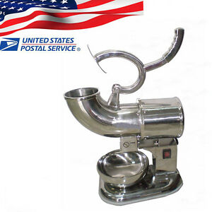 usa 400lbs h Electric Ice Shaver Crusher Machine Snow Cone Maker Shaved Ice