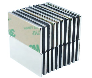 5 Pack 1 5 Inch Large Neodymium Adhesive Block Magnets Strong Rare Earth Craft