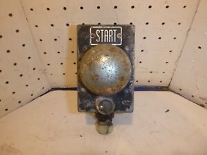 Vintage Industrial Start Switch Chrome Push Button Equipment Pyle national