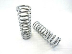 10 Tall Coil Over Shock Springs Id 2 5 Rate 350lb Chrome Bpc 2317c