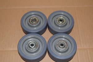 Qty 24 3 1 2 Caster Wheel 250 Lb Load Rating Wheel Width 1 1 4 Fits 3 8 Axle