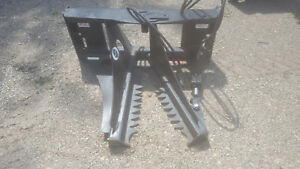 New Budd Tree Puller W quick Attach Plate For Skid Steer Loader Post