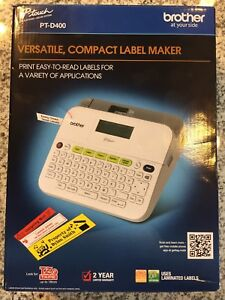 Brother Pt d400 P touch Label Maker Electronic Labeling System New In Box
