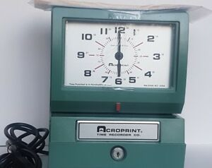 Acroprint 150er3 Automatic Time Clock Works