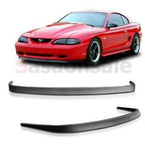 Fit For 94 98 Ford Mustang Mach 1 Oe Front Pu Bumper Lip Body Kit Chin Spoiler