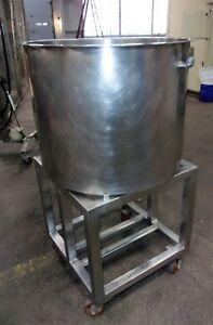 80 Gallon Stainless Steel Sanitary Single Shell Tank