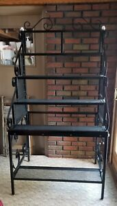 Huge Store Display Bakers Rack Store Display Rack 5 Shelves Super Heavy Metal