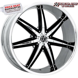 Massiv 923 Spline Chrome W Black Accents 20x8 5 Custom Wheels Rims set Of 4