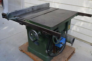 Newman Oliver K 16 Wood Table Saw 5hp Tilting Variety Arbor 3ph W digibrake B60