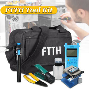 W Fc 6s Fiber Optic Ftth Termination Tool Kits Fault Finder Power Meter Cleaver