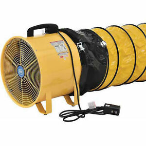 16 Portable Ventilation Fan With 16 Flexible Duct Lot Of 1