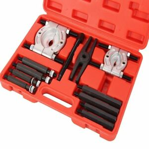 12pcs Bearing Separator Puller Set 2 3 Jaws Mechanic Carry Case Kit Be