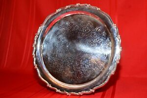 Vintage F B Rogers Silver Co 15 Silver Plate Serving Platter