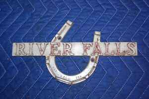 River Falls Wisconsin Aluminum Plaque Model T Ford Antique Car Accessory
