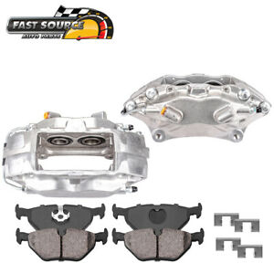 Front Oe Brake Calipers Pair Ceramic Pads For 2007 2014 Ford Mustang