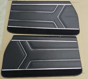 1969 Gto Lemans Pui Front Interior Door Panels Assembled Black Pd450 in Stock