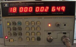 Hp Agilent 5342a Microwave Frequency Counter W options Nist Calibrated