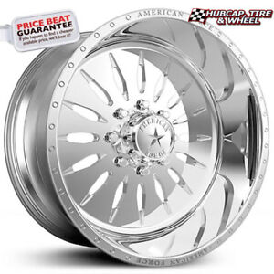 American Force Corona Ss8 Polished 19 5 x7 5 Truck Wheels Rims 8 Lug set Of 4