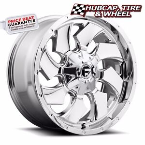 Fuel Offroad D573 Cleaver Chrome 20 x12 Custom Wheels Rims set Of 4 New