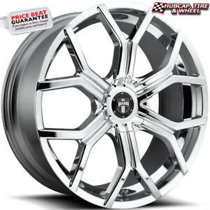 Dub S207 Royalty Chrome 22 x9 5 Custom Wheels Rims set Of 4