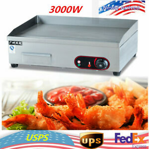 3000w Electric Countertop Griddle Flat Top Commercial Restaurant Grill Bbq Top