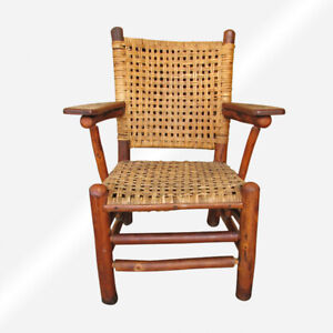 Superb Old Hickory Arm Chair Inv372 Stickley Era