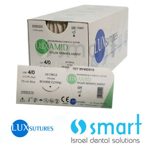 Dental Nonabsorbable Surgical Suture 4 0 Nylon Monofilament Luxamid Polyamid Ce