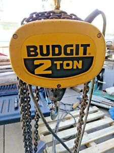 Budgit 2 Ton Electric Chain Hoist 115847 7 4000 Pounds