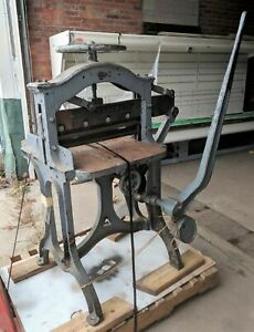 Antique Vintage Reliance Manual 22 Paper Cutter Pre 1893