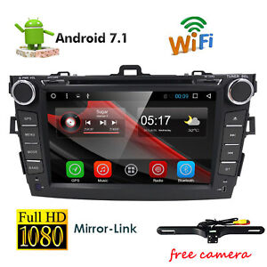 8 Android7 1 Car Stereo Dvd Player Radio Gps For Toyota Corolla 2010 2011 2012