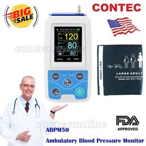 Contec Ambulatory Blood Pressure Monitor software 24h Nibp Holter Abpm50 Sale
