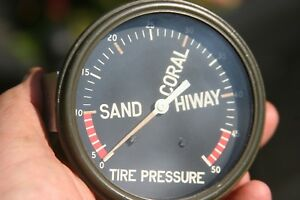 Military Nos Ac 3 3 8 Tire Pressure Gauge Vintage Sand Hiway