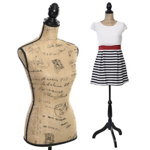 Large Female Mannequin Half Body Torso Dress Display W Tripod Stand Adjustable