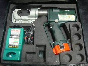 Greenlee Ek1240 Gator Plus Cordless Battery Powered 12 Ton Crimper Set