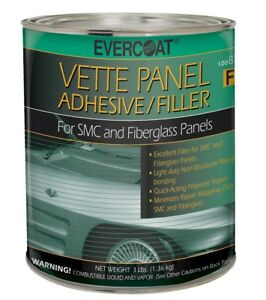 Fiberglass Evercoat 870 Vette Panel Polyester Adhesive Body Filler quart
