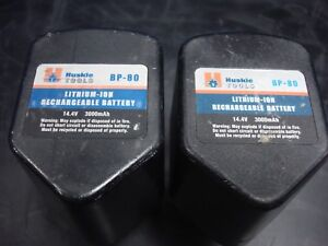 Lot Of 2 Huskie Bp 80 Lithium Ion Batteries For Robo Crimp Crimpers 14 4v 3000