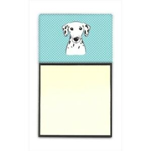 Checkerboard Blue Dalmatian Refiillable Sticky Note Holder Or Postit