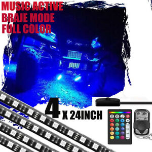 Golf Cart Led Body Glow Neon Wireless Lights 128led Kit For Ezgo Club Car Yamaha