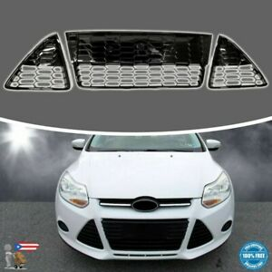 3pcs Front Bumper Lower Grille Grills For Ford Focus S Se 2012 2013 2014