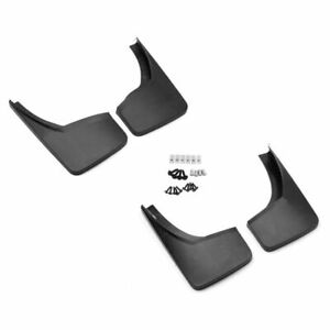 For 2014 18 Gmc Sierra Front Rear Black Grain Molded Splash Mud Guards Mudflaps