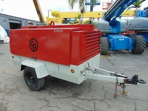 2012 Atlas Copco Cps 375 Portable Trailer Mounted Air Compressor perkins Diesel