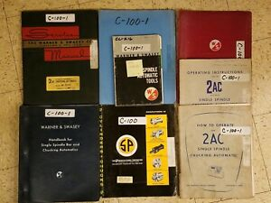 8 Warner Swasey Manuals Parts List 2ac Single Spindle And Chucking Automatic