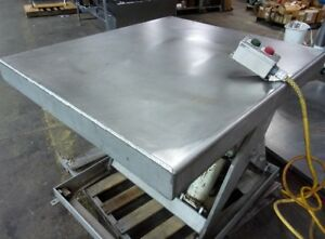 4000 Pound Pallet Lift Table Model Ez4000 Apache Stainless Steel Food Grade