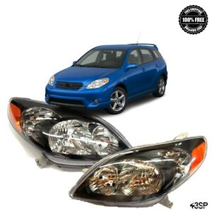 For Toyota Corolla 2011 2012 2013 Black Housing Clear Lens Set Front Headlights