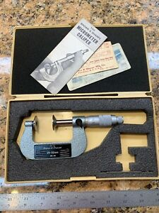 Brown And Sharpe Blade Micrometer 25 50mm Metric 223 12 Flawless K37